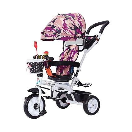 Bicicleta 4 en 1 para niños de 1-3 a 6 años Triciclo de niños multifunción ...