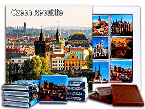 DA CHOCOLATE Candy Souvenir CZECH REPUBLIC Chocolate Gift Set 5x5in 1 box (Panoramic)