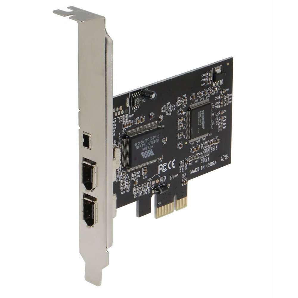 Firewire PCIe PCI EXpress 3E1I, 2x 6 Pin + 1 x 4 Pin external port VIA 3+1 Ports 1394A Adapter card with low profile bracket SEDNA