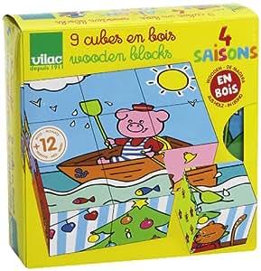 Vilac 2419 - Puzzle con cubos (9 cubos)