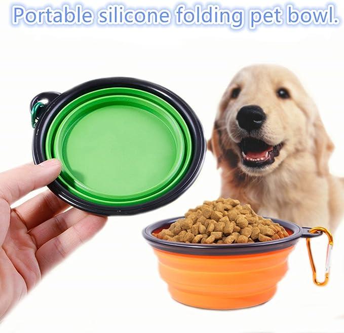 para cachorros para perros viaje camping de silicona Cuencos plegables para perros tama/ño mediano ajustable plegable RELOAD para exteriores 13 x 5 cm