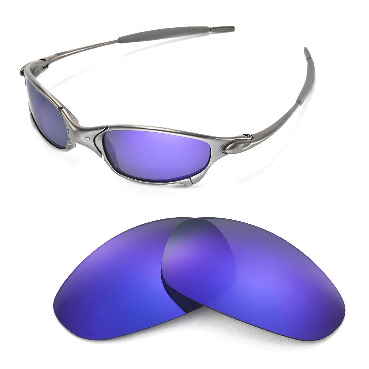 ffecf1bcc9 Galleon - Walleva Replacement Lenses For Oakley Juliet Sunglasses - Multiple  Options Available (Purple Coated - Polarized)