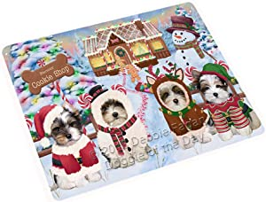 "Holiday Gingerbread Cookie Shop Biewer Terriers Dog Large Refrigerator/Dishwasher Magnet RMAG98916 (18"" x 24"")"