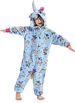 WhiFan Franela con Capucha Pijama Unicornio Animal Pijama Entero ...