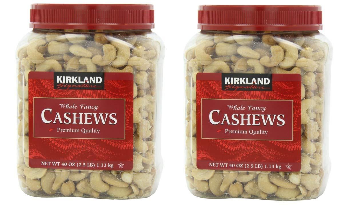 Kirkland Signature Cashews, 40 Ounce 2 pack