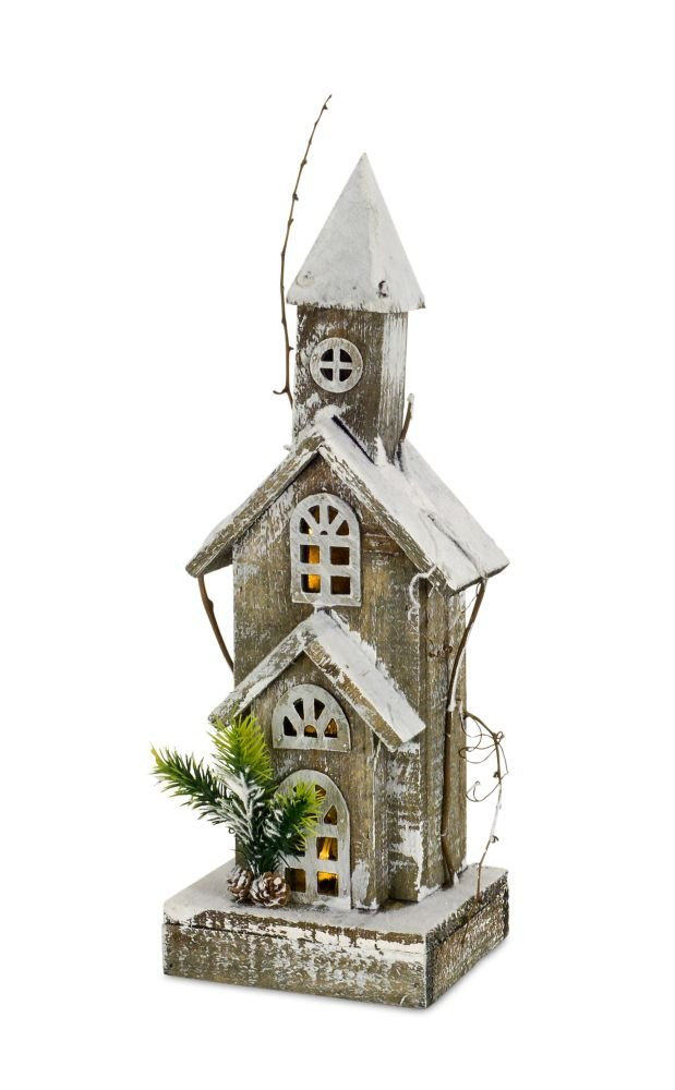 Melrose 18 inches Height Wood Church Collectible Figurine