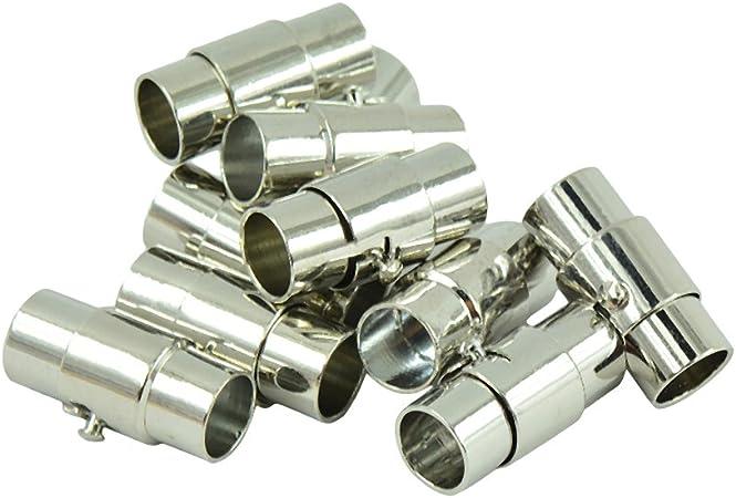 dailymall 30 St/ücke Kumihimo Armband Magnetverschluss Schmuckherstellung Zubeh/ör 4//5
