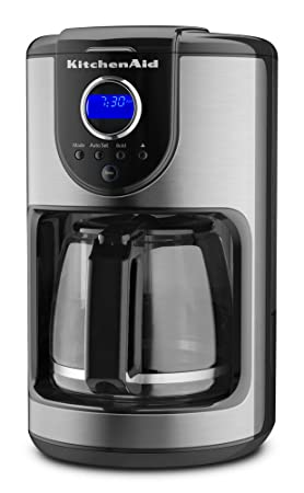KitchenAid KCM111OB 12-Cup Gl Carafe Coffee Maker, Onyx Black ... on 4 cup coffee makers, grind and brew coffee makers, nespresso coffee maker, mr coffee maker, personal coffee maker, 12 cup coffee maker, under cabinet coffee maker, 60 cup coffee maker, thermal coffee maker, capresso coffee maker, automatic coffee machines, black & decker coffee maker, viking coffee maker, cuisinart coffee maker, 14 cup coffee maker, dual coffee maker, starbucks coffee maker, vacuum coffee maker, blue coffee maker, coffee maker grinder, 1 cup coffee maker, spacemaker coffee maker, braun coffee maker, target red coffee maker, farberware coffee maker, 4 cup coffee maker, thermal carafe coffee maker, black and decker coffee maker, bunn coffee maker,
