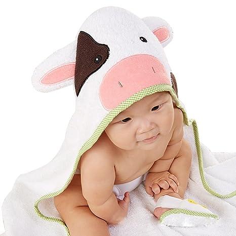 KINDOYO Bebé Recién Nacido con Capucha Poncho Algodón suave Animales ...