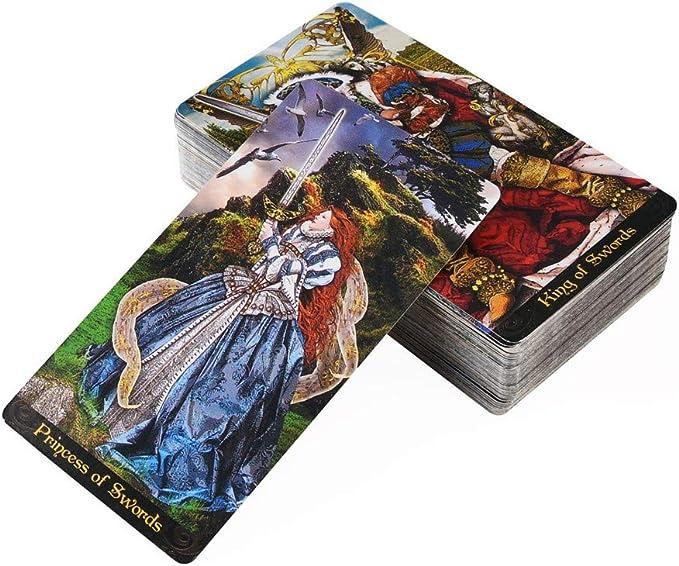 GROOMY Tarot, Tarot Illuminati Kit 78 Cartas Deck Adivinación Destino Fiesta Familiar Juego de Mesa Juguete: Amazon.es: Hogar