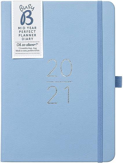 Agenda semainier 2020 A5 avec carnet dadresses et stylo a5 bleu