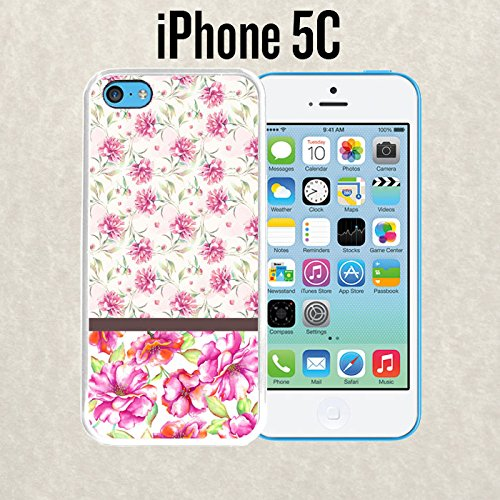 iPhone Case Glamour Baby Floral Pink for iPhone 5c Plastic White (Ships from - From 6 Iphone Chanel Case
