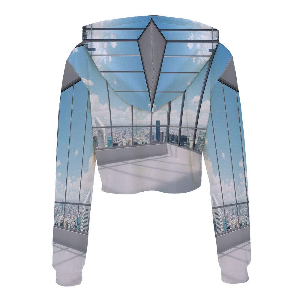 Sweatshirt Women 3D Pullover Sweatshirts S//M MulticolorCircled Rainbow Like Col