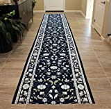 Cheap Masada Rugs Extra Wide Long Runner Area Rug Floral Design, Non Slip Backing, Machine Washable (32 Inch X 15 Feet)