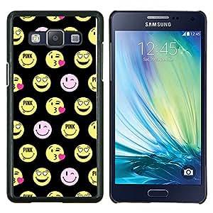 EJOOY---Cubierta de la caja de protección para la piel dura ** Samsung Galaxy A5 A5000 ** --cara sonriente feliz del emoticon divertido