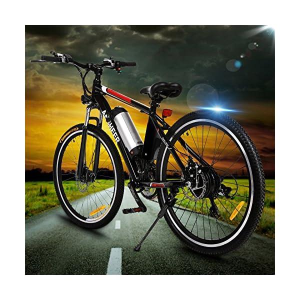ANCHEER Bicicletta Elettrica Pieghevole Bici da Montagna Ebike con Batteria al Litio da 26 Pollici Grande capacità 36V… 3 spesavip