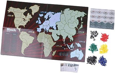 D DOLITY Juego Clásico Risk Board Game para 2-6 Jugador - A ...