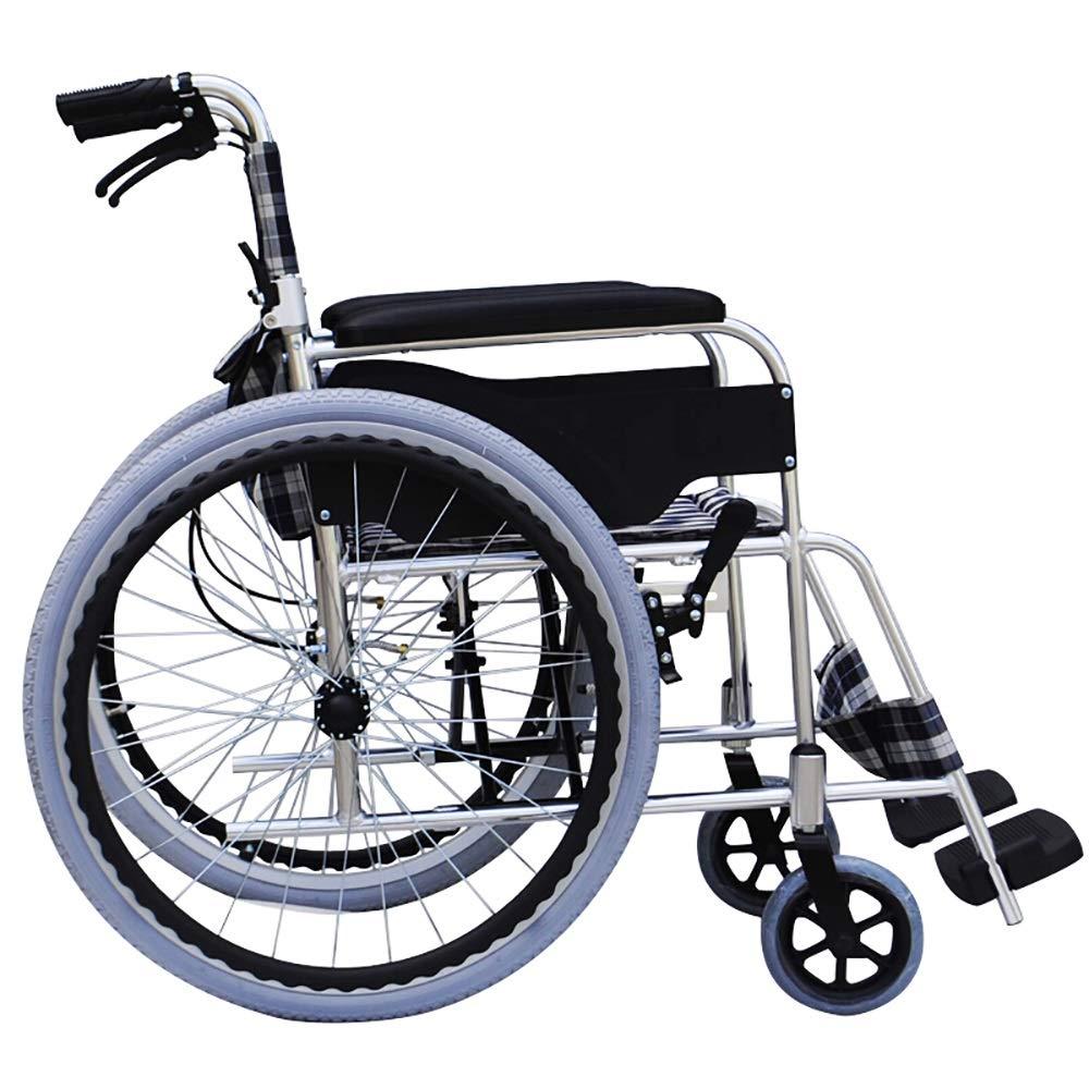 TLMY 車いすポータブル高齢者障害者アルミ合金手動車いす軽量折りたたみ輸送旅行ホームハンドブレーキ 歩行補助器具 (Style : B) B07S879ST6  B