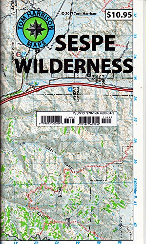 Los Padres National Forest Map - Sespe Wilderness Trail Map (Tom Harrison Maps)