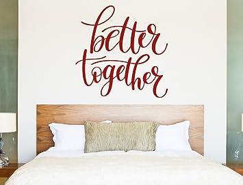 Wandtattoo Schlafzimmer Spruch Liebe Better together Wanddeko ...