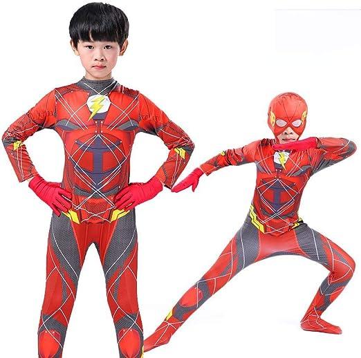 CHANG Cosplay Ropa Kid The Flash Disfraz De Cosplay Impresión ...