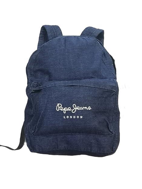 Pepe Jeans - Mochila Denim Backpack, unisex, Color: Indigo, Talla única: Amazon.es: Zapatos y complementos
