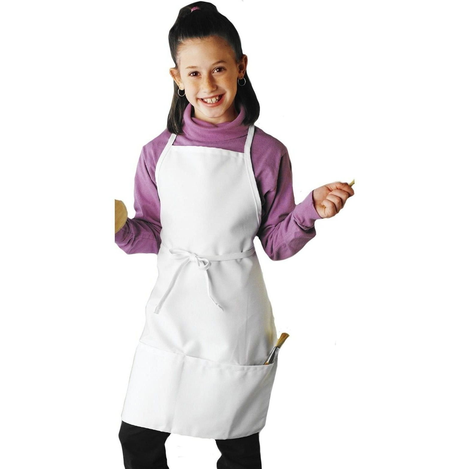 Uncommon Threads Youth Apron in White - One Size