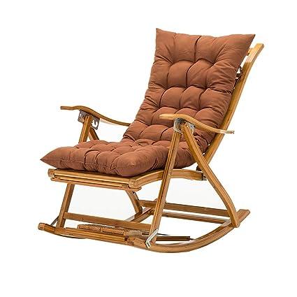 fb926ecc8 Silla Mecedora Plegable Silla reclinable Silla de Playa Silla de bambú  Tumbona Balcón Sala de Estar