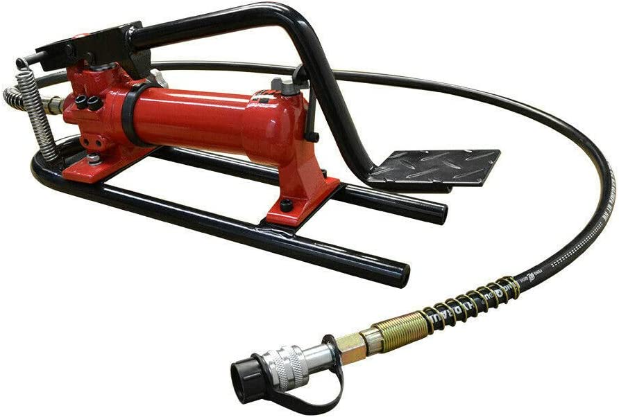 L x W x H Thaweesuk Shop Red 10,000 PSI Pneumatic Hydraulic Pump MF2 Manual Foot Pumper 72 Hose /& Coupler New Metal 22 x 7 x 8-1//2 of Set