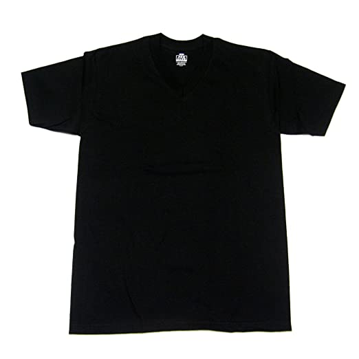 bbe2eedd3f7052 Amazon.com: Pro Club Mens Plain Blank Preshrunk 100% Cotton V-Neck Short  Sleeve T Shirt: Clothing