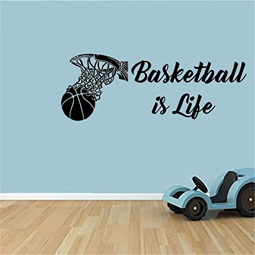 xingbuxin Wall Decal Basketball Is Life Wall Decal Quote Modern ...