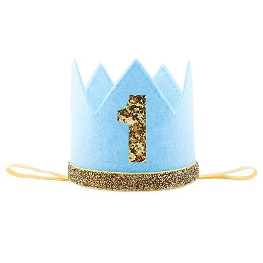 Baby Girl Boy Half 1 2 First Birthday Crown Party Cake Smash Headband Hair Accessories