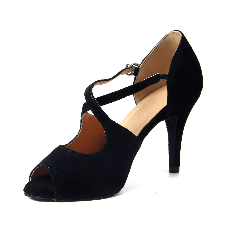 Naudamp Satin Chaussures de Danse Latine pour Femmes Salle de Bal Salsa...