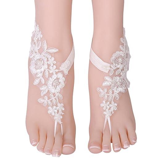 e185b35415835 Amazon.com: Fascigirl 1 Pair Barefoot Sandals Fashionable Lace ...