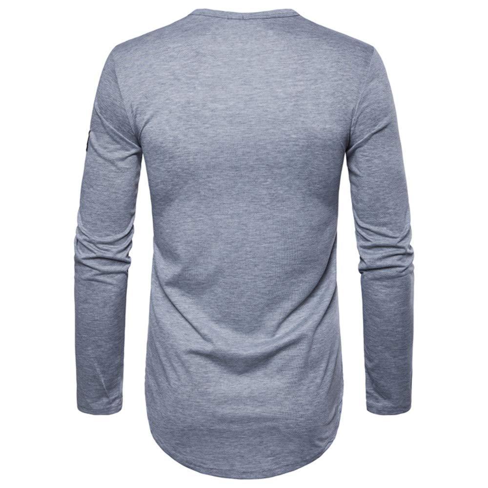Rawdah_Camisetas De Hombre Manga Larga Camisetas De Hombres Camisetas De Hombre Tallas Grandes Camisetas De Hombre De Marca Camisetas Hombre XXL Camisetas: ...