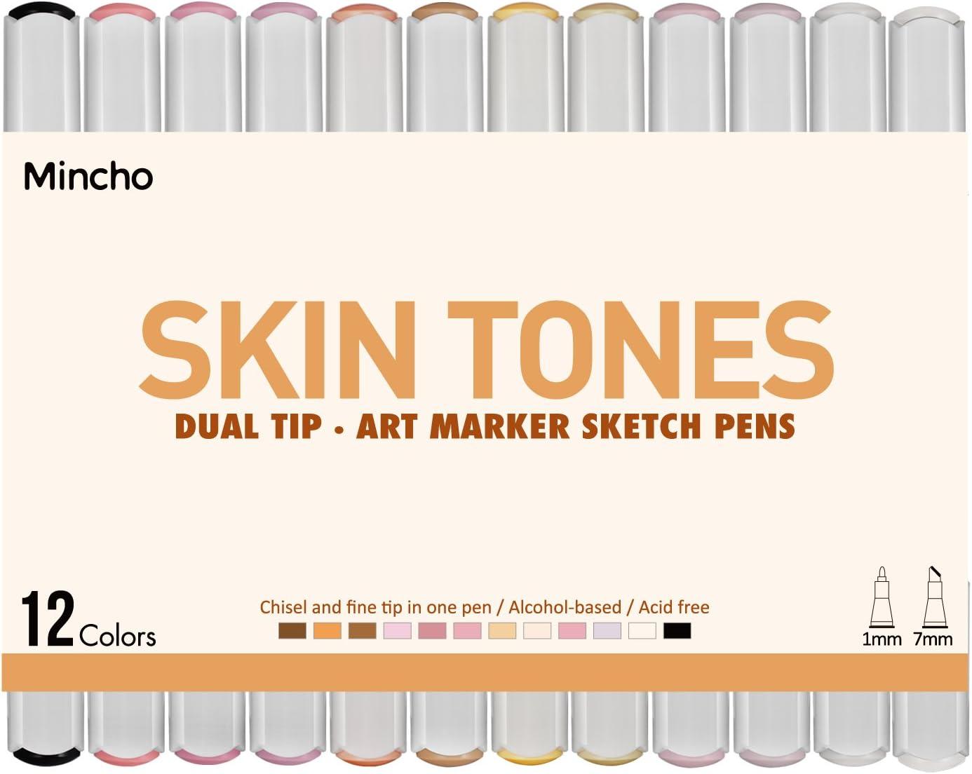 2Pcs Flesh Light Color Watercolor Pencils Skin Tone Lead Core Pencil for Portrait Comic Adult Coloring Books Artist Coloring Drawing Sketching/Blending