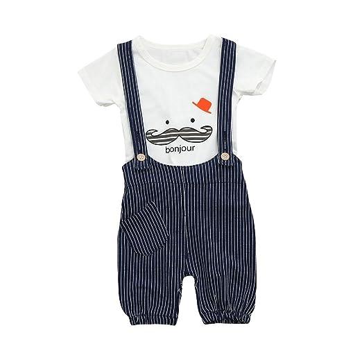 4c5f8449245e Amazon.com  Moonker Toddler Infant Baby Boy Clothes Beard Print ...