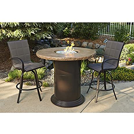 Amazoncom Outdoor Greatroom Colonial Pub Height Fire Pit Table - Pub height fire pit table