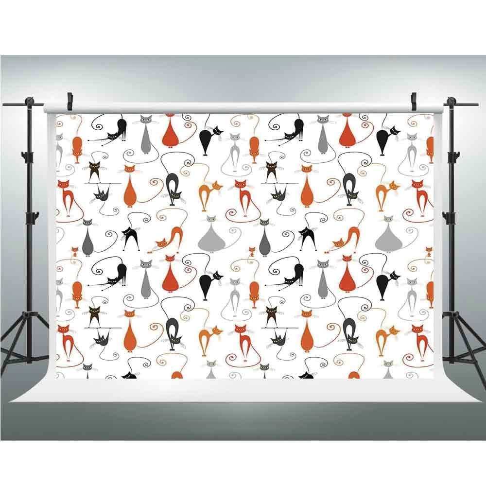 写真 ビデオ 写真 スタジオ 布地 背景 スクリーン カートゥーン 装飾 3.28x5フィート スマイリーフェイス 絵文字 漫画 手描き イメージ 正面表現 6.5x6.5ft Multi_10 B07GNRQGT7