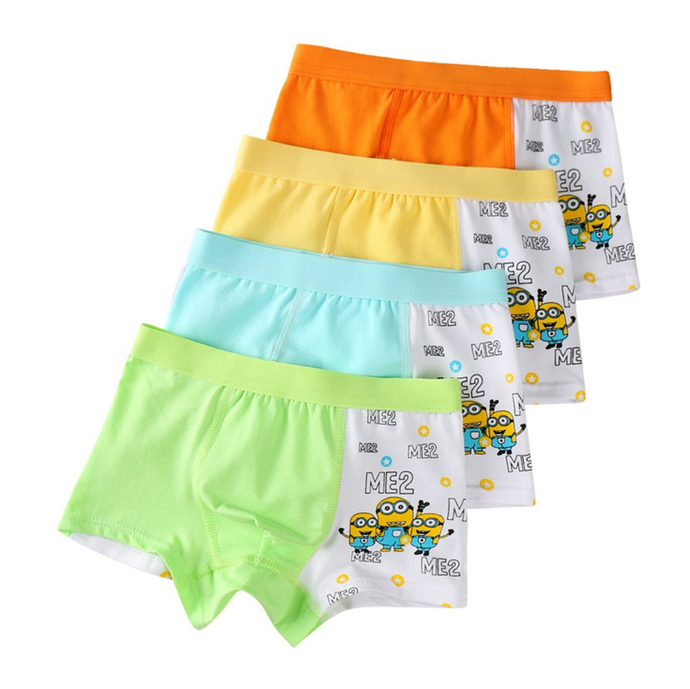 2-8 Years Old Boys Cartoon Character Underwear Minions Boxer Briefs Training Pants
