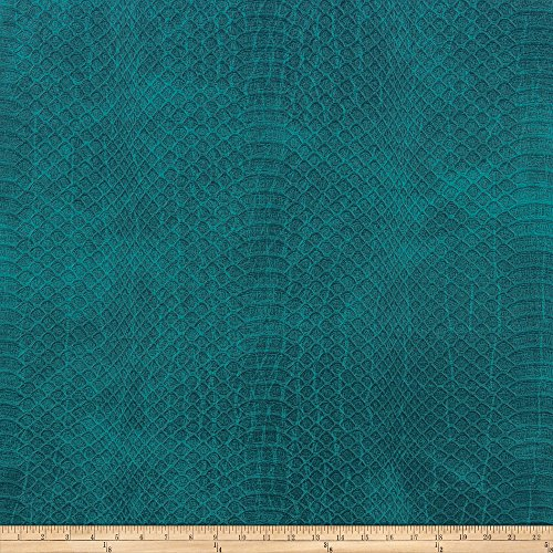 Embossed Suede Leather - Richloom Fabrics Richloom Tough Faux Leather Safari, Teal
