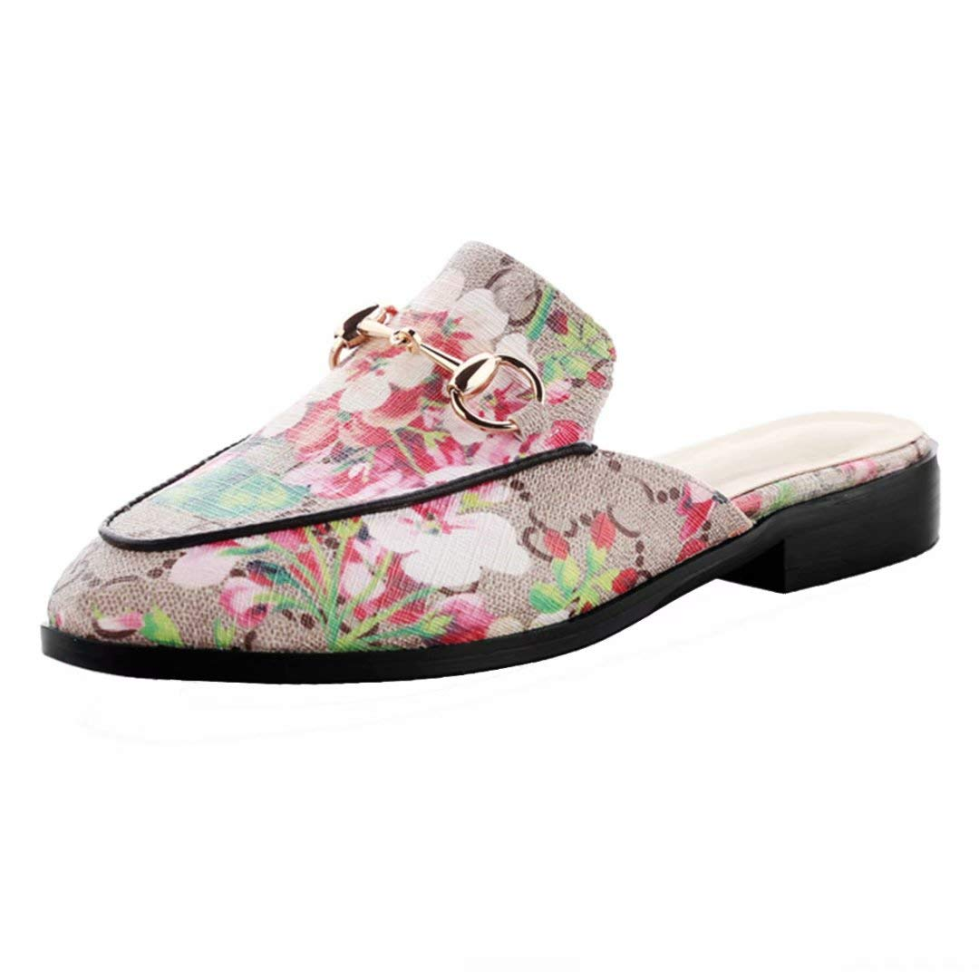 JYshoes Mules Mules JYshoes Femme Femme Red+blumen bb7f60c - automatisms.space