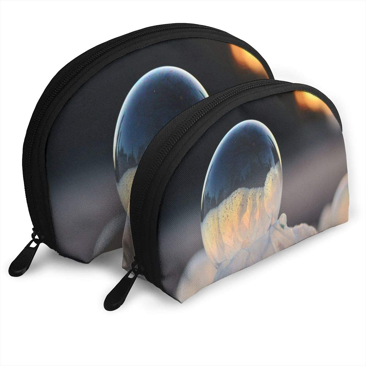 Pouch Zipper Toiletry Organizer Travel Makeup Clutch Bag Frozen In A Bubble Portable Bags Clutch Pouch Storage Bags