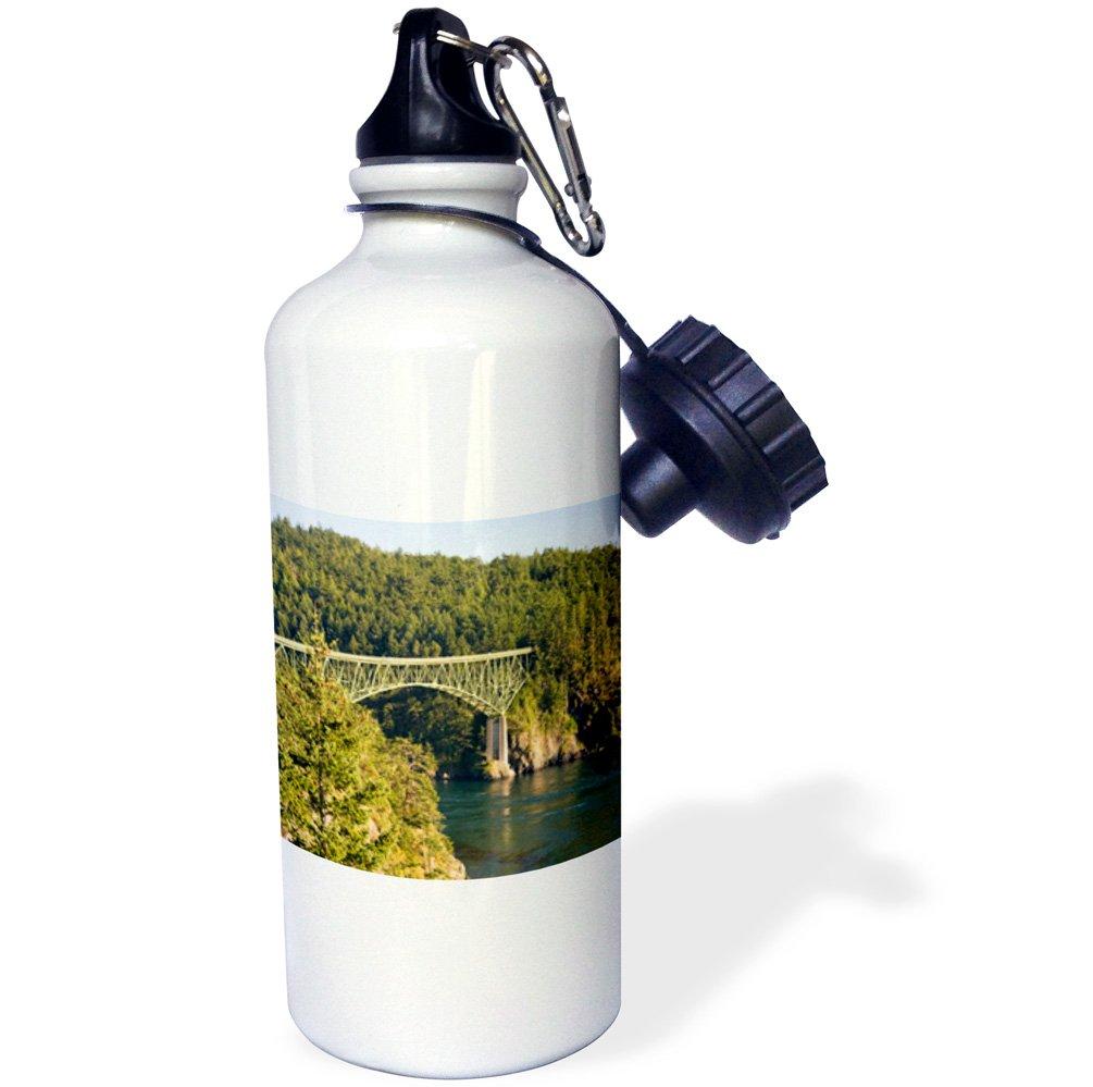 Frazier Sports Water Bottle 3dRose wb/_95320/_1Deception Pass Bridge White 21 oz Whidbey Fidalgo Isl WA US48 DFR0127 David R