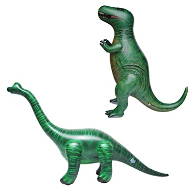 Jet Creations T-Rex Combo! Inflatable T-Rex and Inflatable Brachiosaurus DI-TYR3BRAC, Multi: Toys & Games