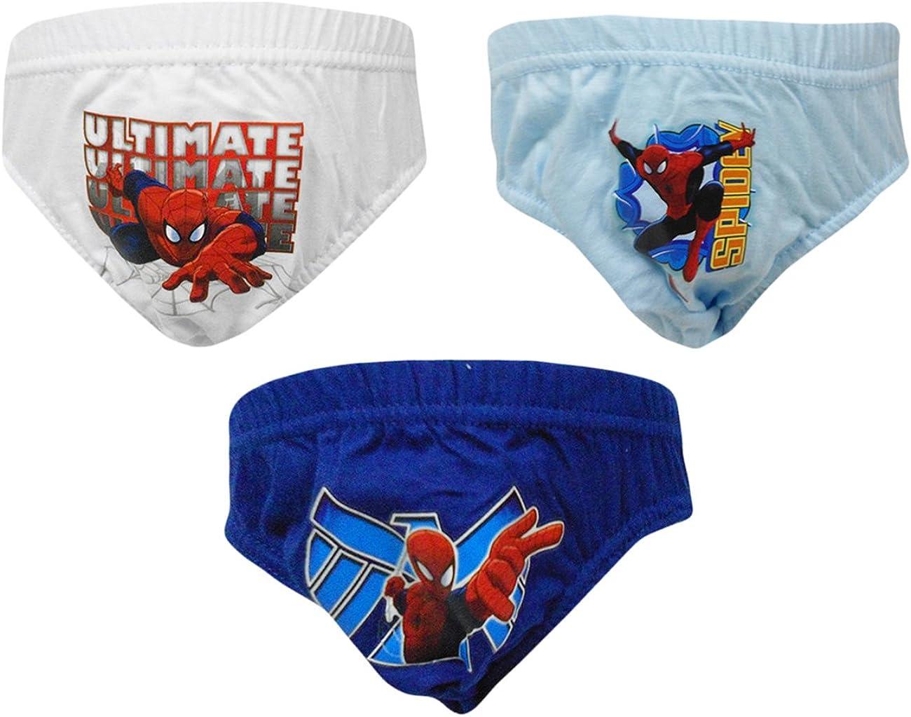 Pack de 3 calzoncillos de Spiderman para niños Blanco blanco 6-8 ...