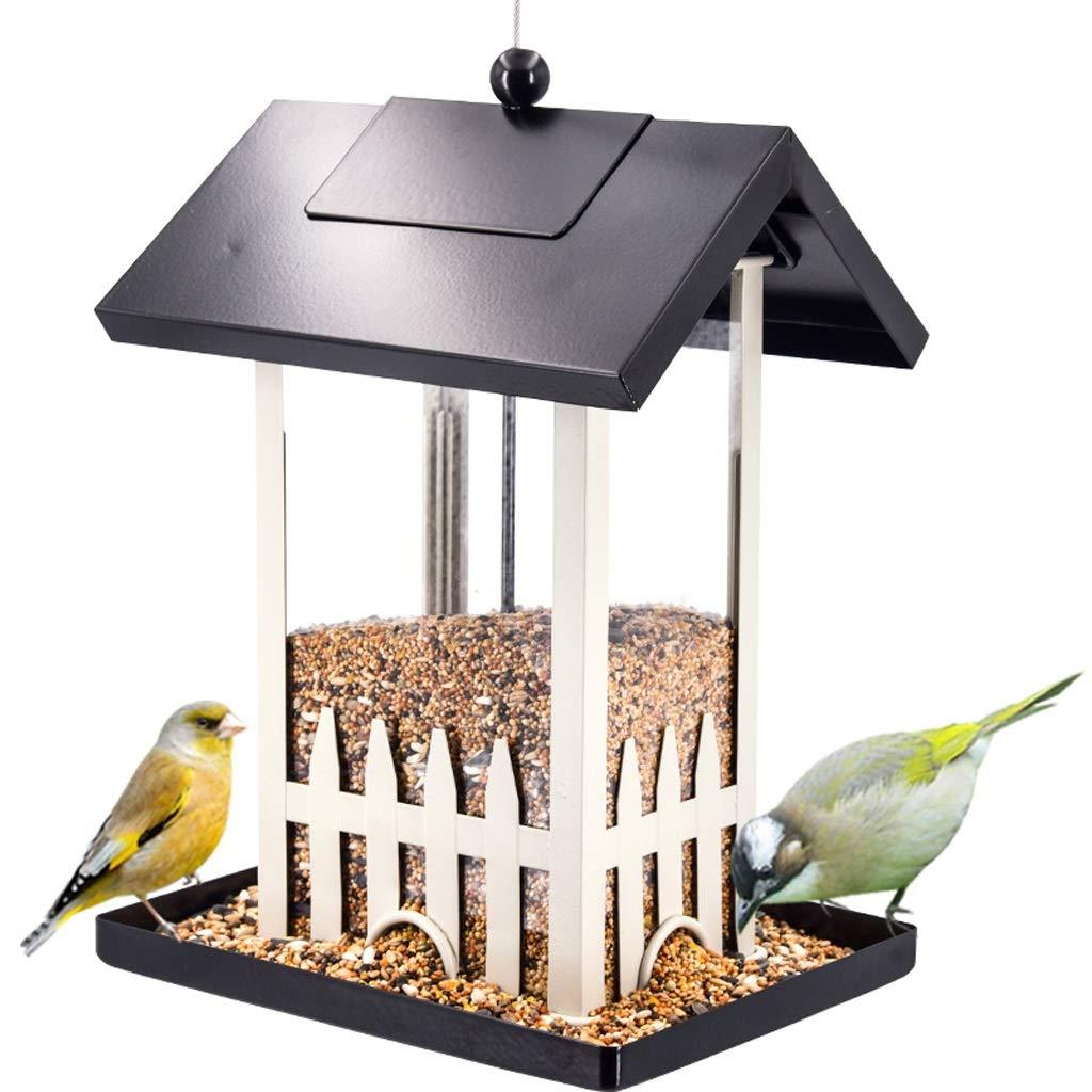 XingKunBMshop Wild Bird Feeder, Small Durable Hanging Bird Table Garden Seed Feeding House Bird Food Tray,Balcony by XingKunBMshop