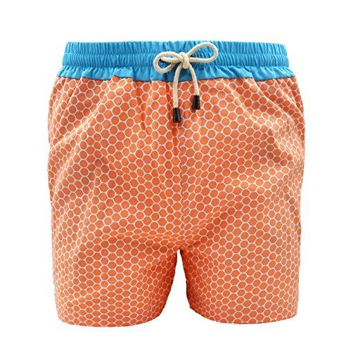 Dagobear Herren Badeshort Orange Orange