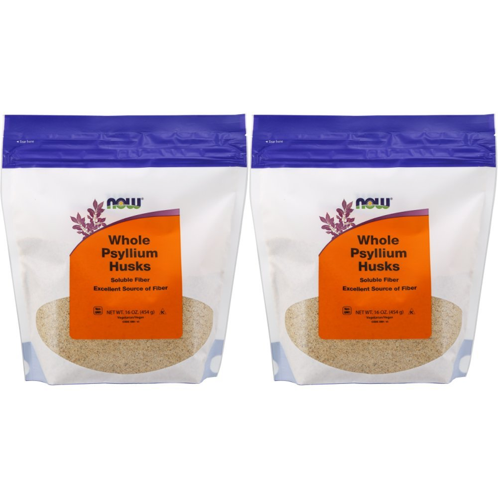 NOW Foods Psyllium Husks Whole, 16 Ounce (Pack of 2) Package May Vary