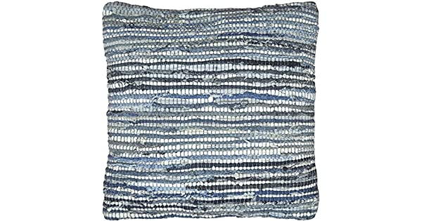 Amazon.com: MATADOR Denim y piel Chindi Pillow, 45,7 cm ...